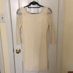 DVF Lace Cream Dress
